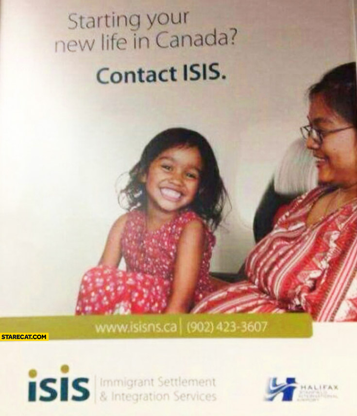 Starting your new life in Canada contact ISIS