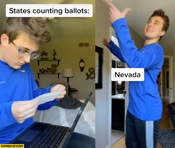 States counting ballots vs Nevada playing with it