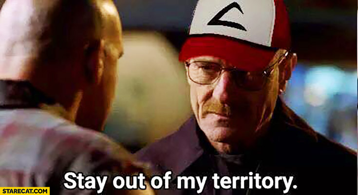 Stay out of my territory Walter White playing Pokemon GO Breaking Bad