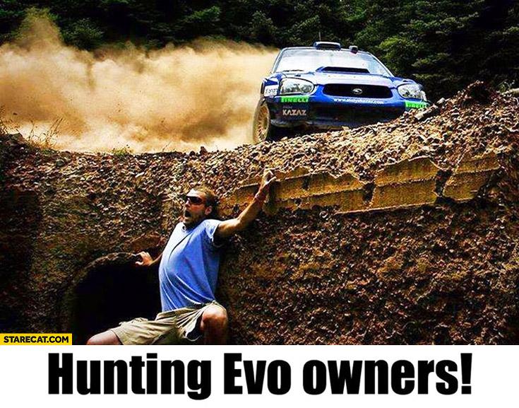 Subaru Impreza hunting Mitsubishi Evo owners