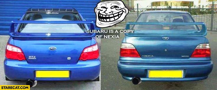 Subaru is a copy of Daewoo Nexia