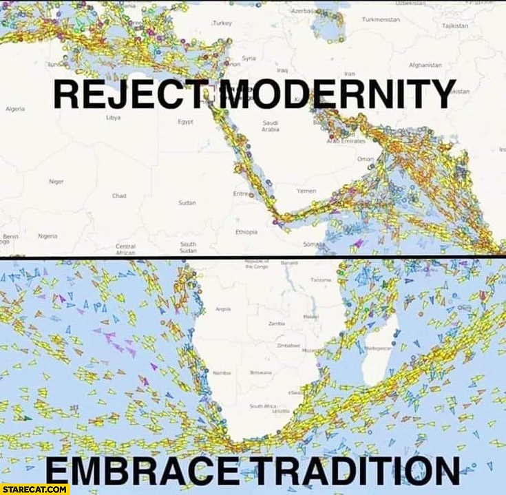 Suez canal blocked reject modernity embrace tradition