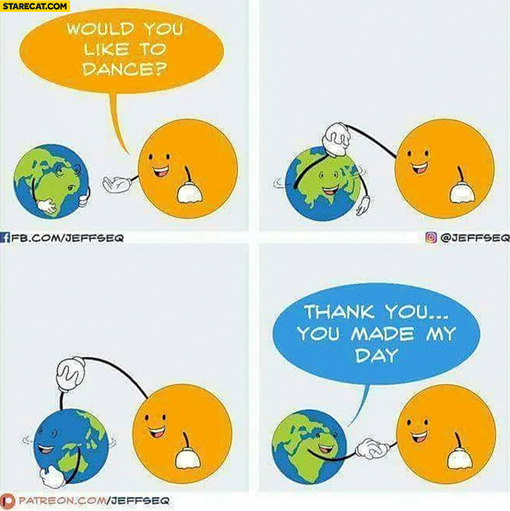Sun Earth would you like to dance comic