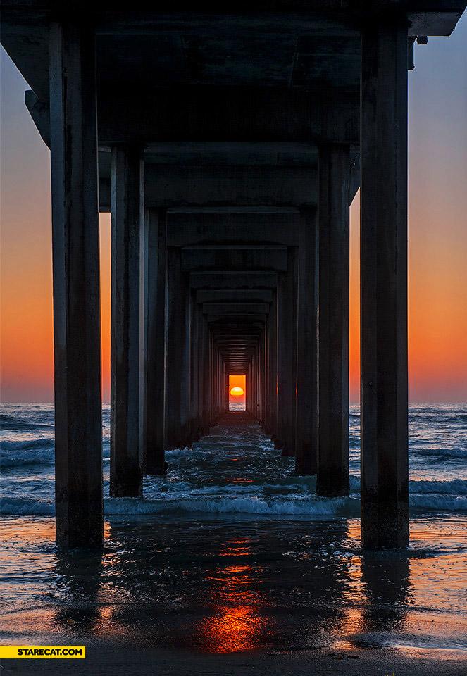 Sun under a bridge