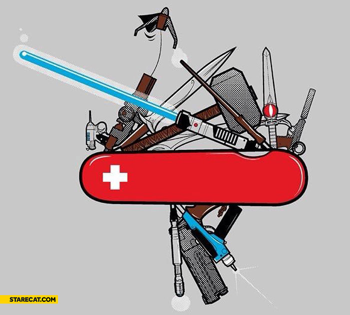 Swiss knife lightsaber