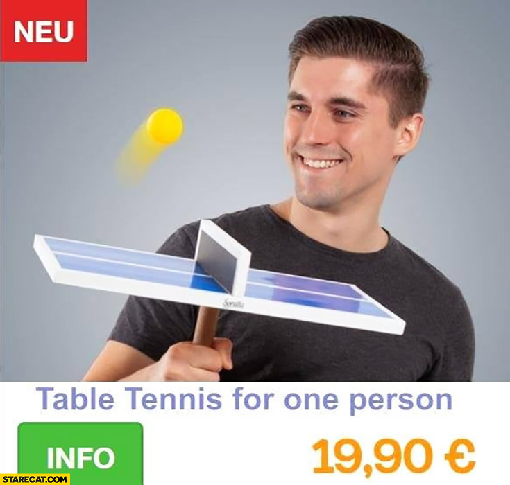 Table tennis for one person silly product game