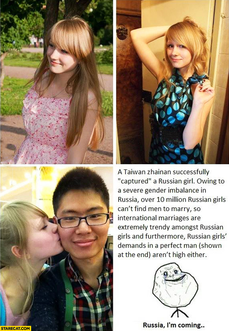 Taiwan captured Russian girl Russia I'm coming forever alone