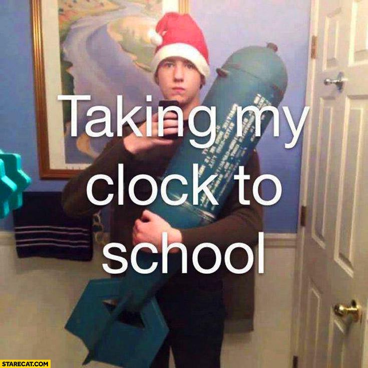 Taking my clock to school bomb
