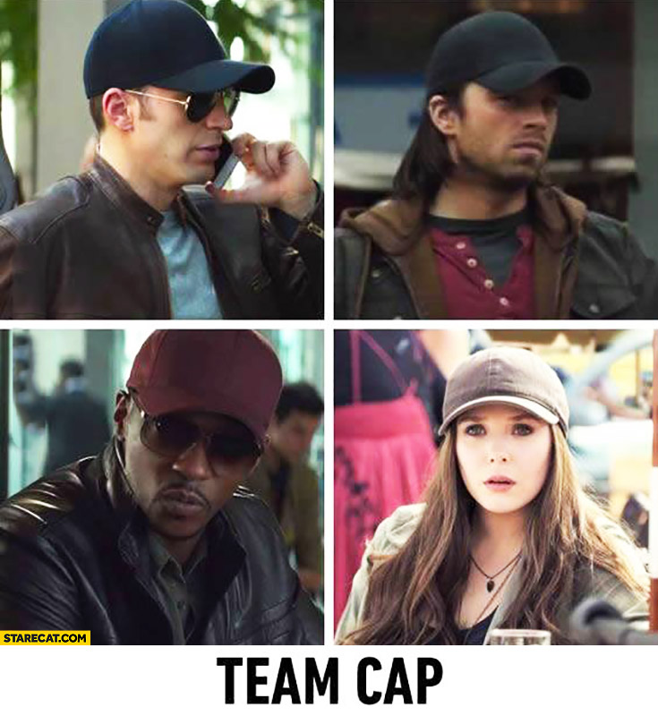 Team cap Quicksilver X-Men and Avengers
