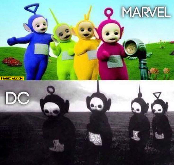 Teletubbies Marvel DC