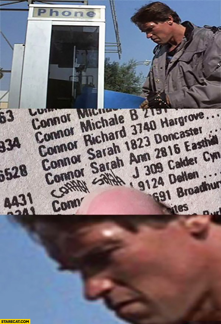 Terminator cant read Connor Sarah captcha in phone book