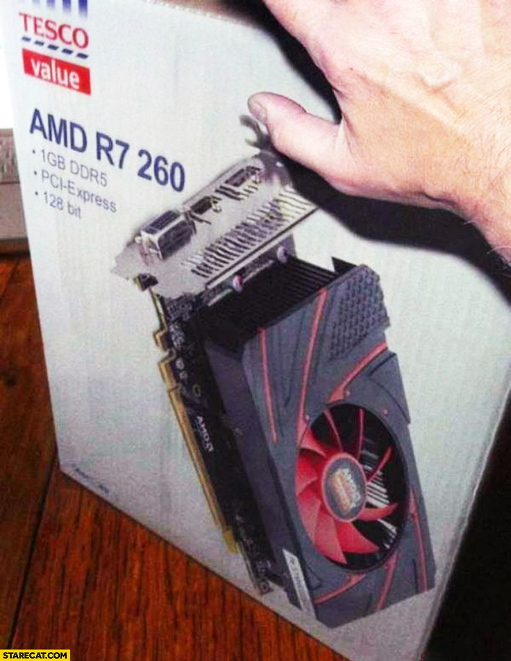 Tesco value AMD R7 260 GPU graphics card