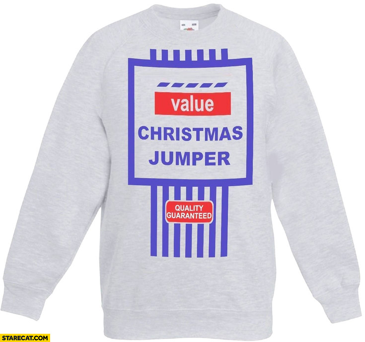 Tesco Value christmas jumper quality guaranteed