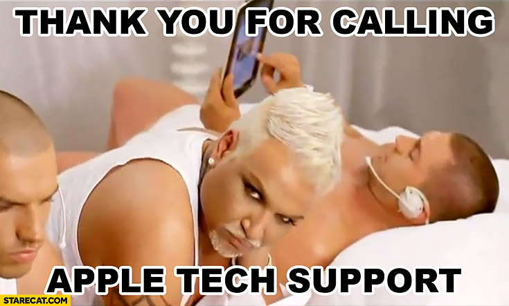 Thank you for calling Apple tech support LGBT men dressed all in white