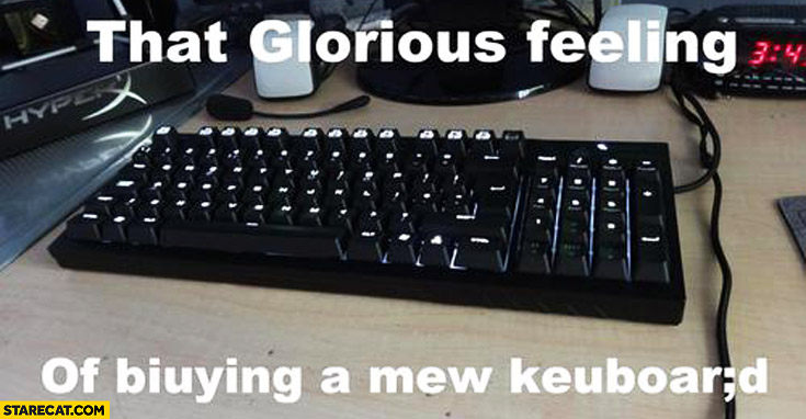 That glorious feeling of biuying a mew keuboard
