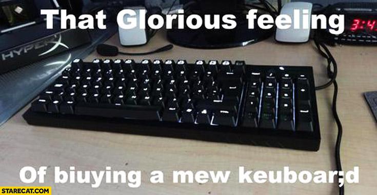 That glorious feeling of biuying a mew keuboard