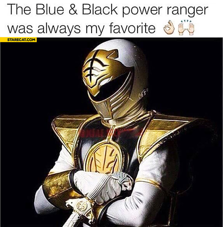 The blue and black Power Ranger was always my favourite
