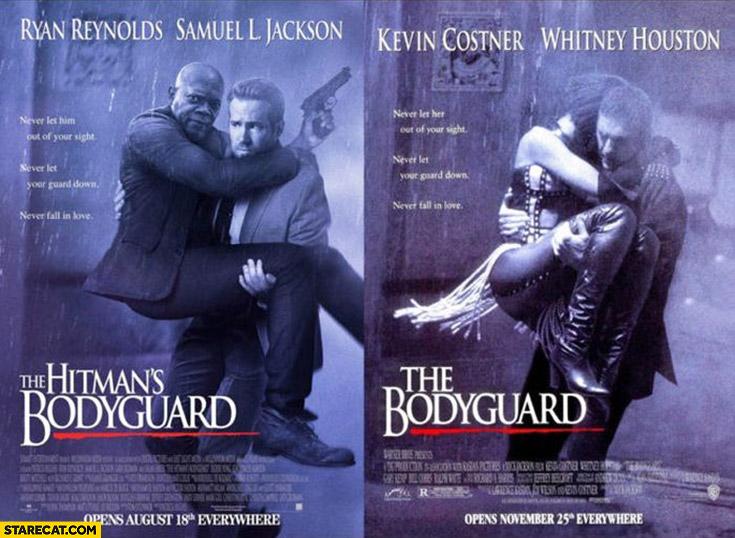 The Bodyguard Movie photoshopped to the Hitman's Bodyguard
