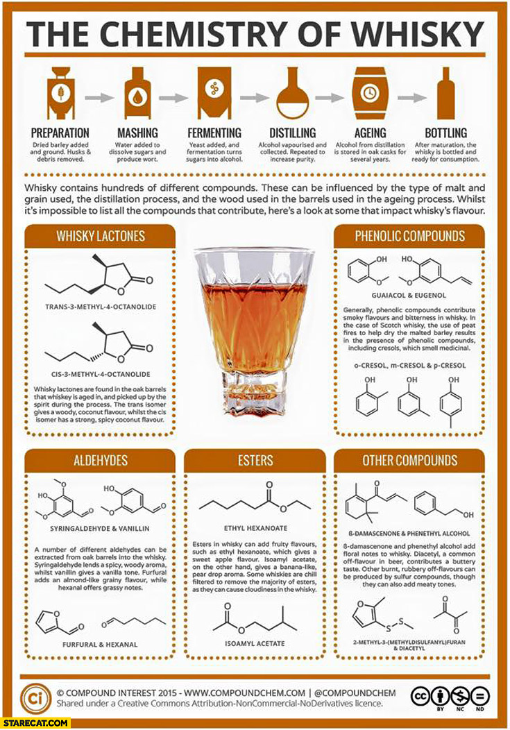 The chemistry of whisky infographic