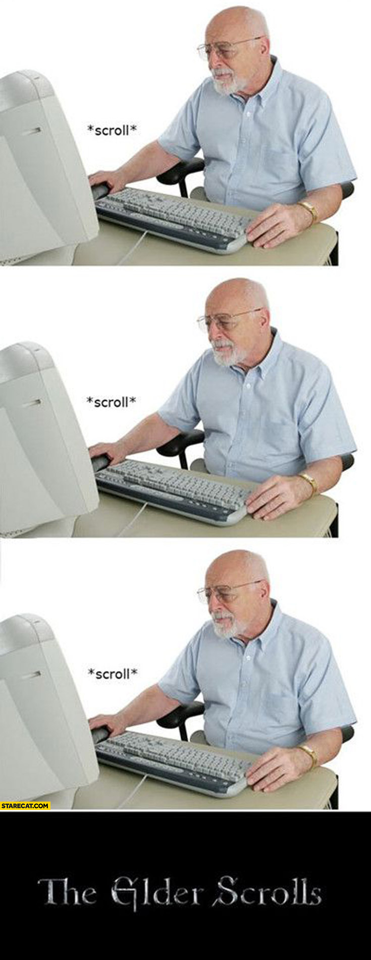 The Elder Scrolls old man scrolling