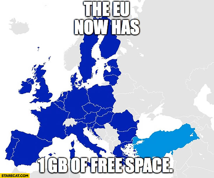 The European Union now has 1 GB of free space