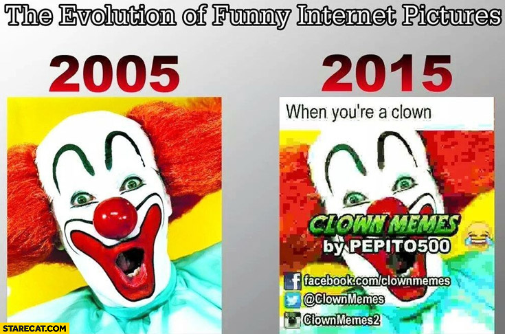 The evolution of funny internet pictures 2005 2015 comparison captions