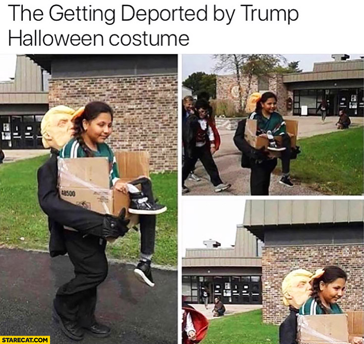 The getting deported by Donald Trump halloween costume creative girl