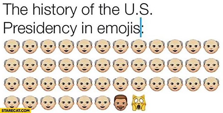 The history of the US Presidency in emojis scared cat