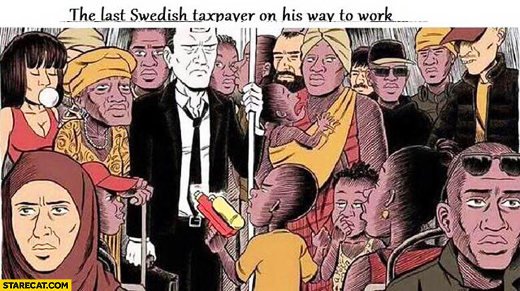 The last Swedish taxpayer on his way to work