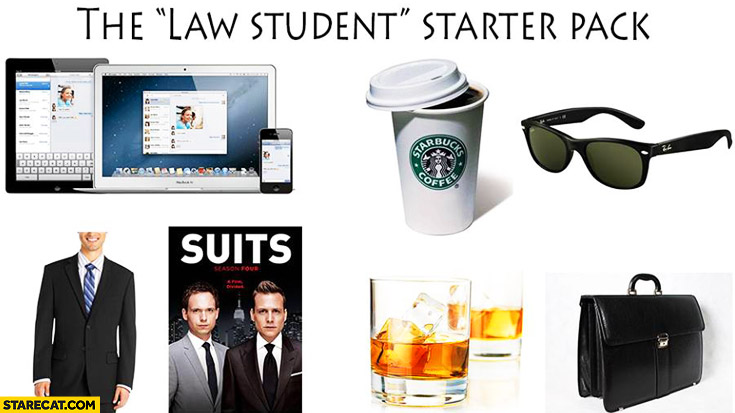 The law student starter pack