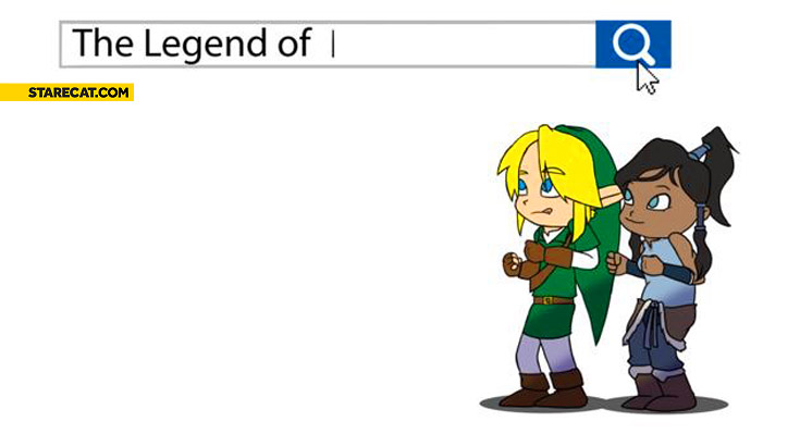 The Legend of Zelda Google search box