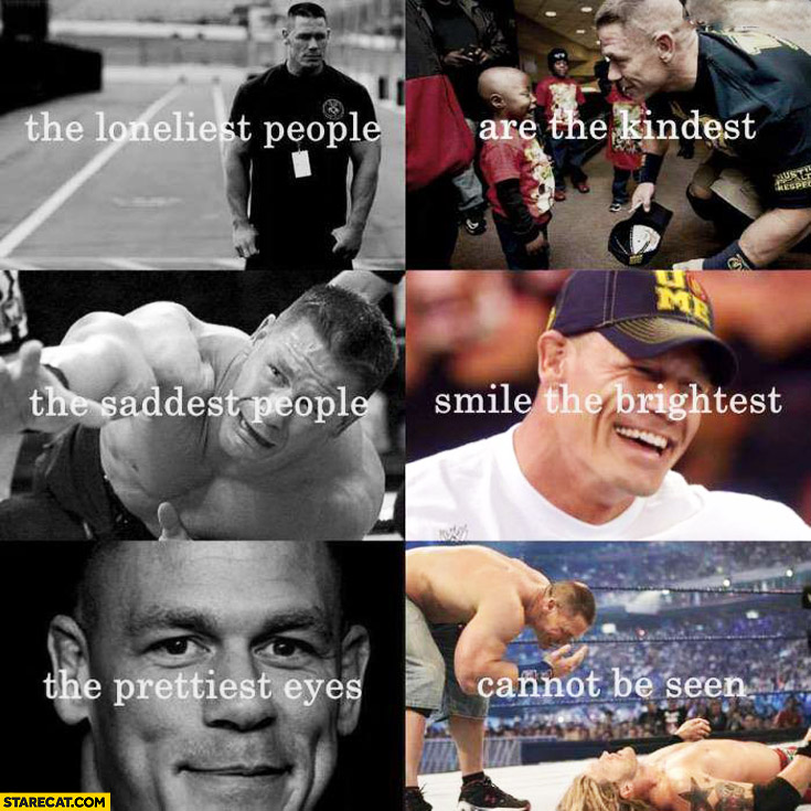 The loneliest people are the kindest the saddest people are the brightest the prettiest eyes cannot be seen