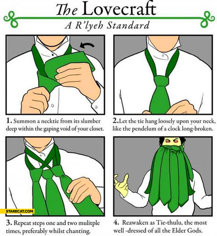 The lovecraft how to tie Thulu