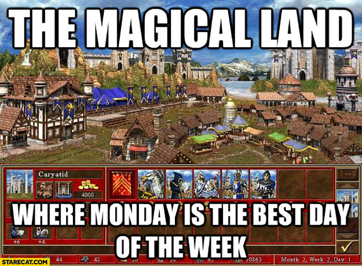 The magical land where monday is the best day of the week Heroes of might and magic 3