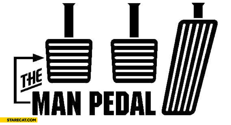 The man pedal driving manual