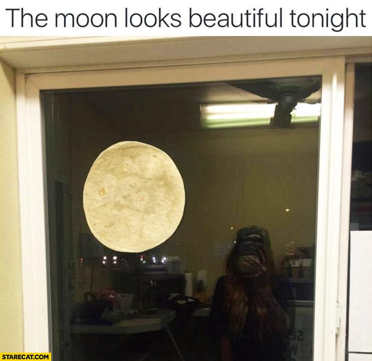 The moon looks beautiful tonight pizza dough