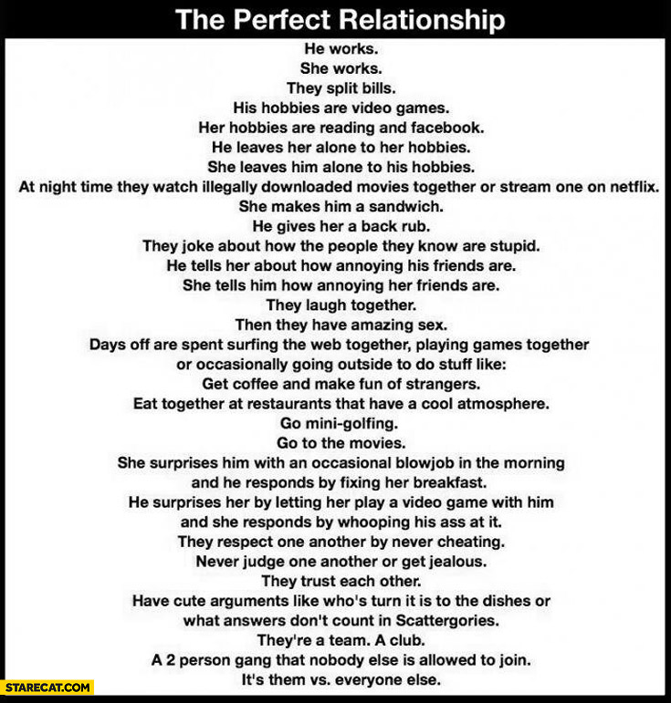 The perfect relationship