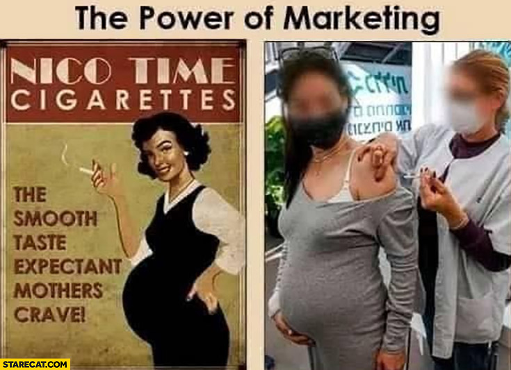 The power of marketing smoking vaccination for pregnant women