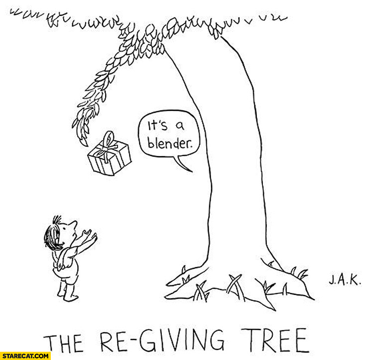 The re-giving tree: it's a blender