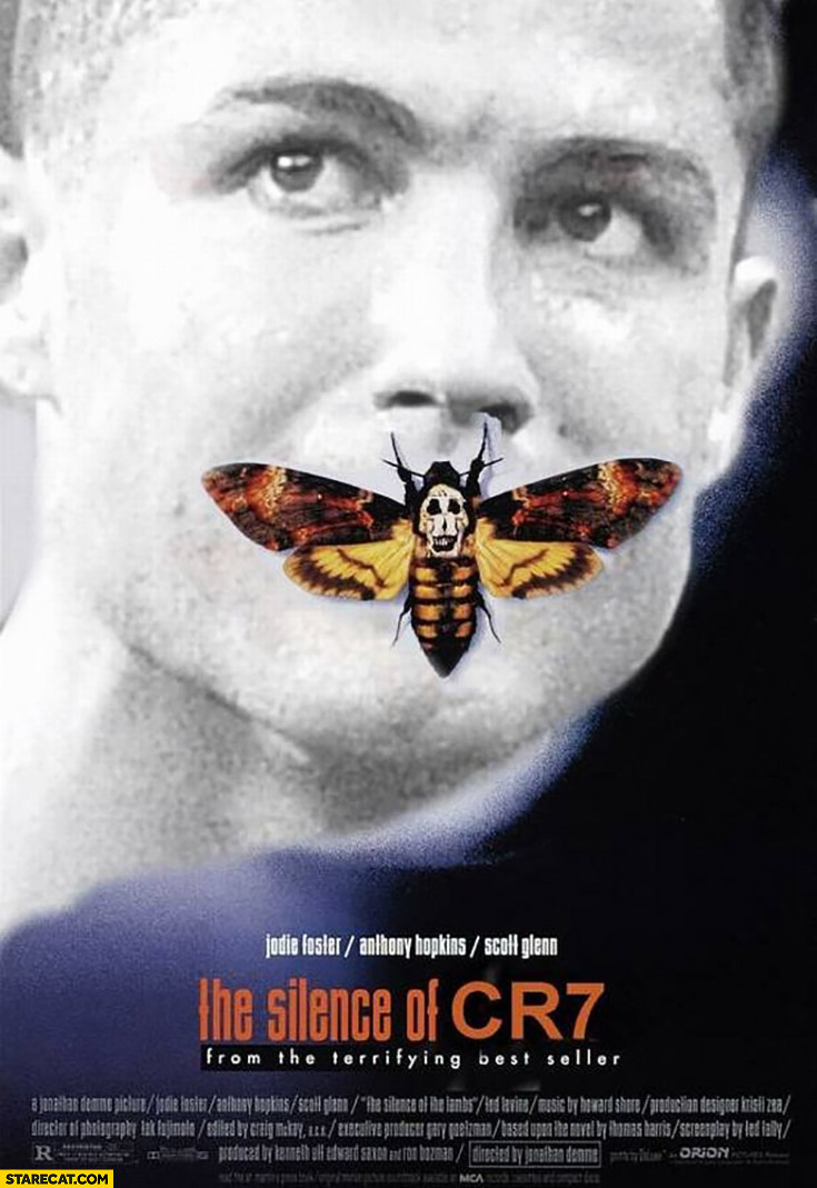 The silence of CR7 Cristiano Ronaldo moth movie poster silence of the lambs Euro finals