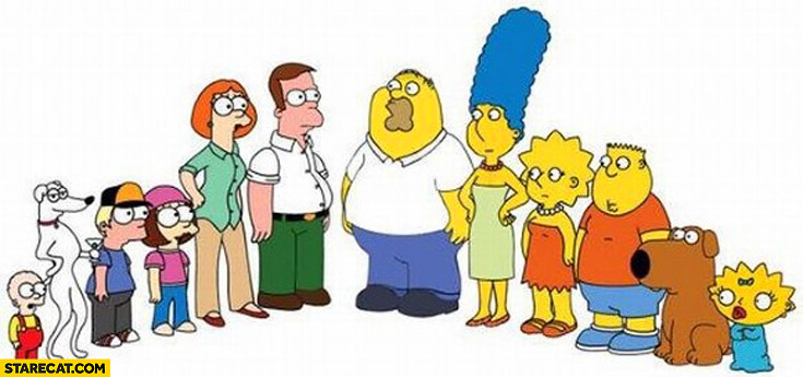 The Simpsons Family Guy switch change roles
