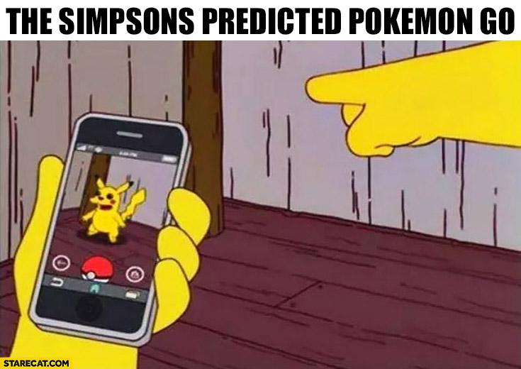 The Simpsons predicted Pokemon GO