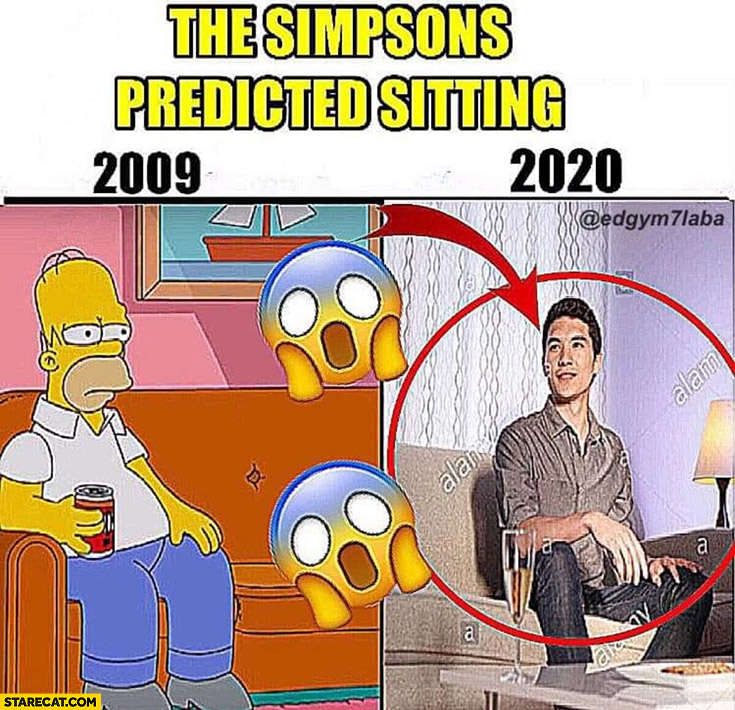 The Simpsons predicted sitting 2009 2020