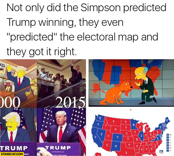 The Simpsons predicted Trump winning and they got electoral map right