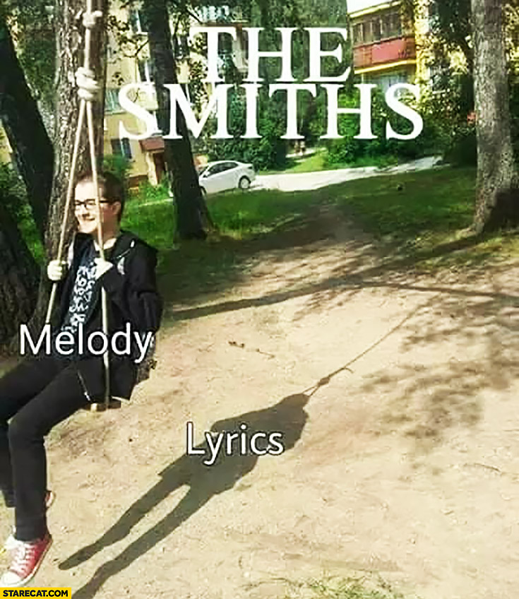 The Smiths melody vs lyrics shadow of a hanging man