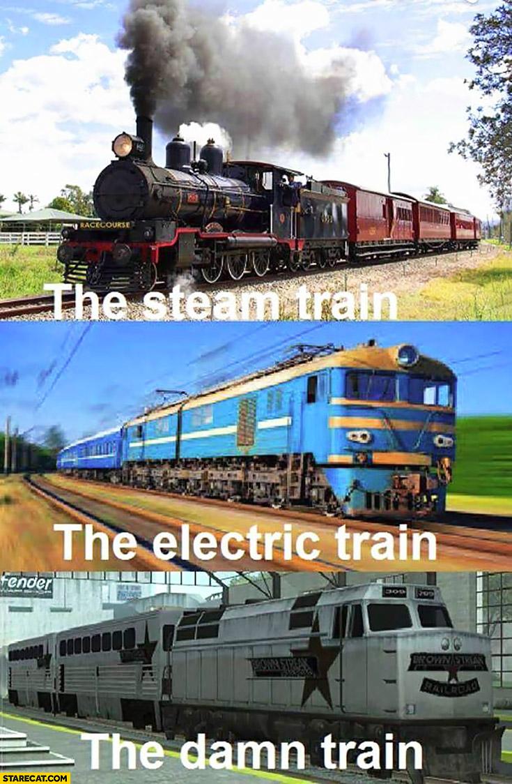 The steam train, the electric train, the damn train GTA Grand Theft Auto