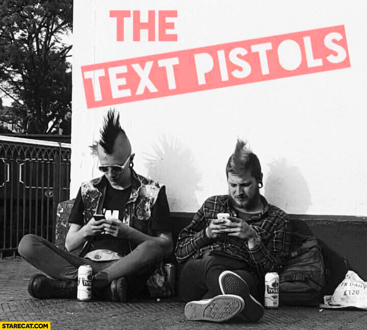 The text pistols Sex Pistols fan texting
