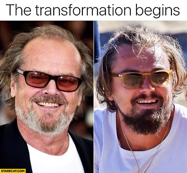 The transformation begins: Leonardo DiCaprio to Jack Nicholson