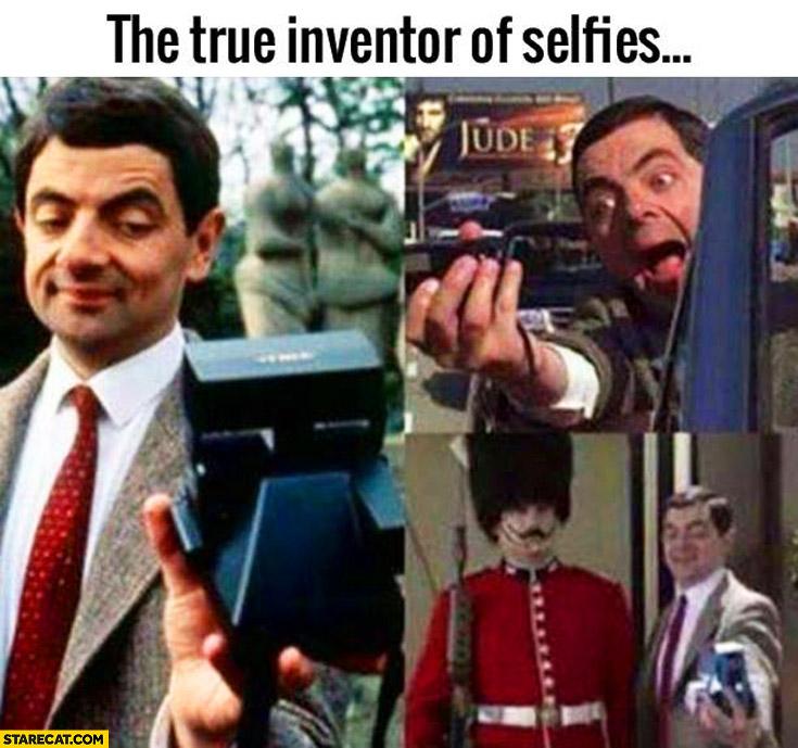 The true inventor of selfies Mr. Bean