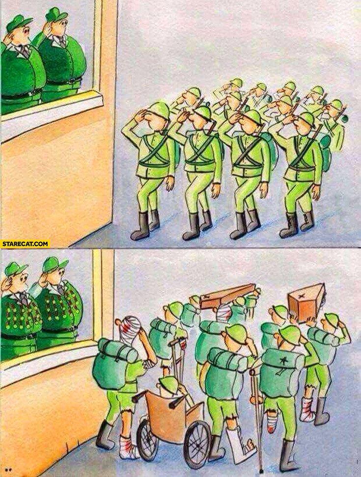 The ugly truth about war salute